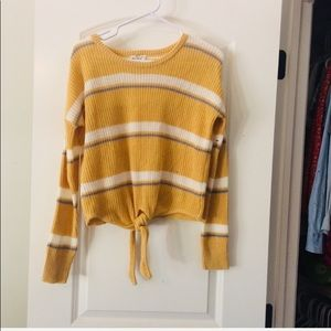 Yellow crochet sweater